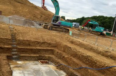 Civil groundwork construction-